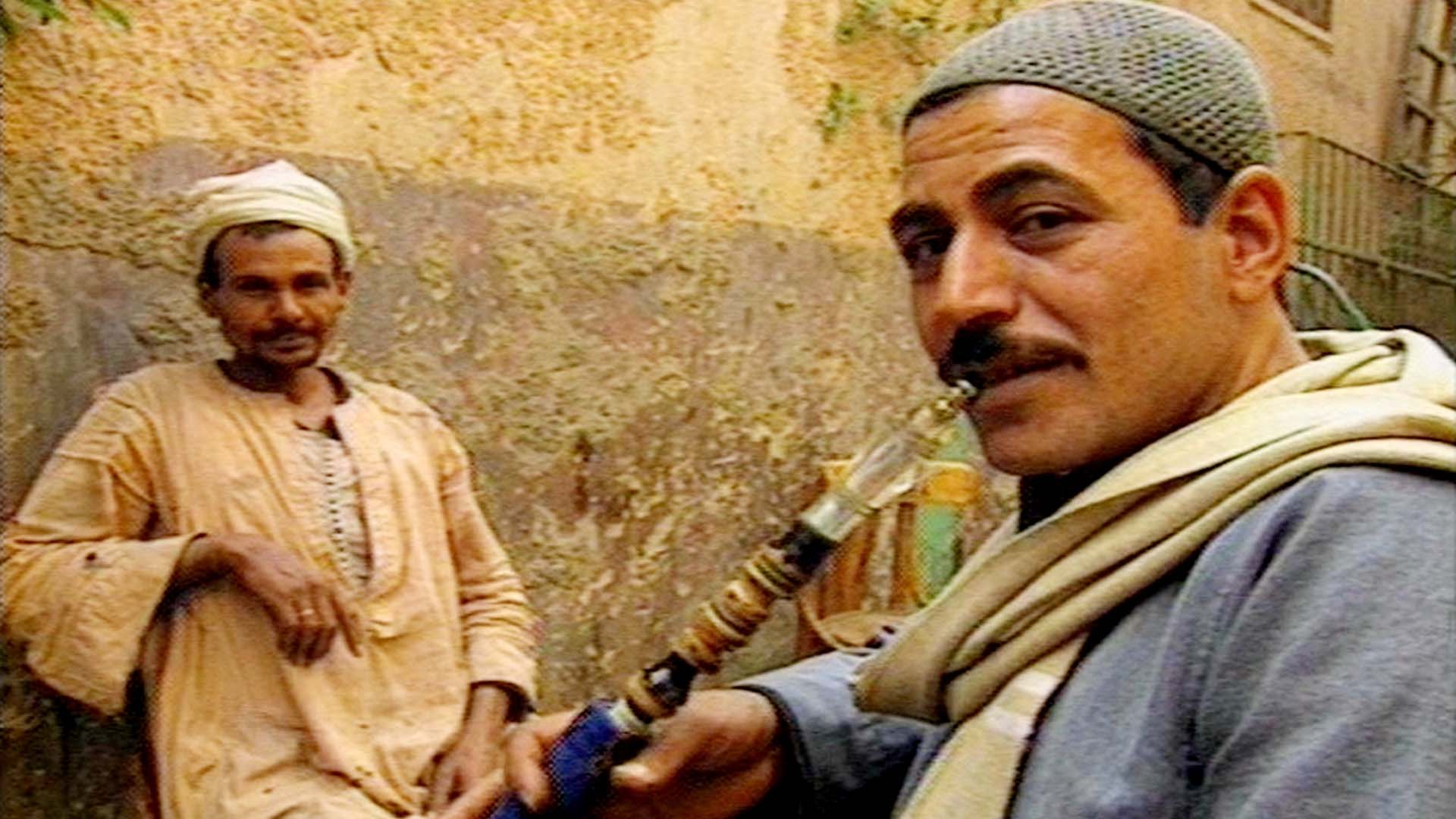arab man smokes